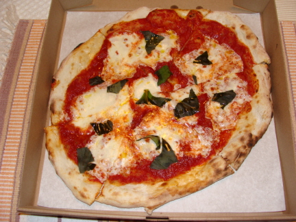 Wood Fired Margherita Pizza At Cafe Italia