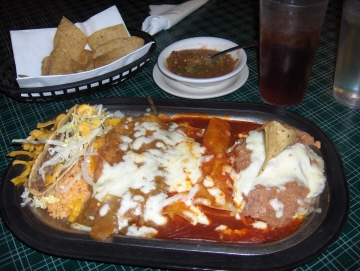 Mexican Plate Serves Typical El Paso Food